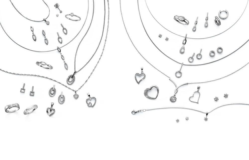 12871 Weissgold - Diverses mit Diamanten