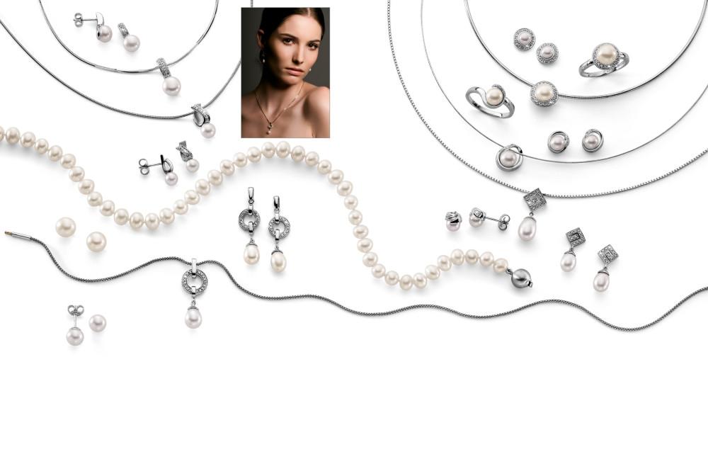 13144 Weissgold - Diverses mit Diamanten, Perlen
