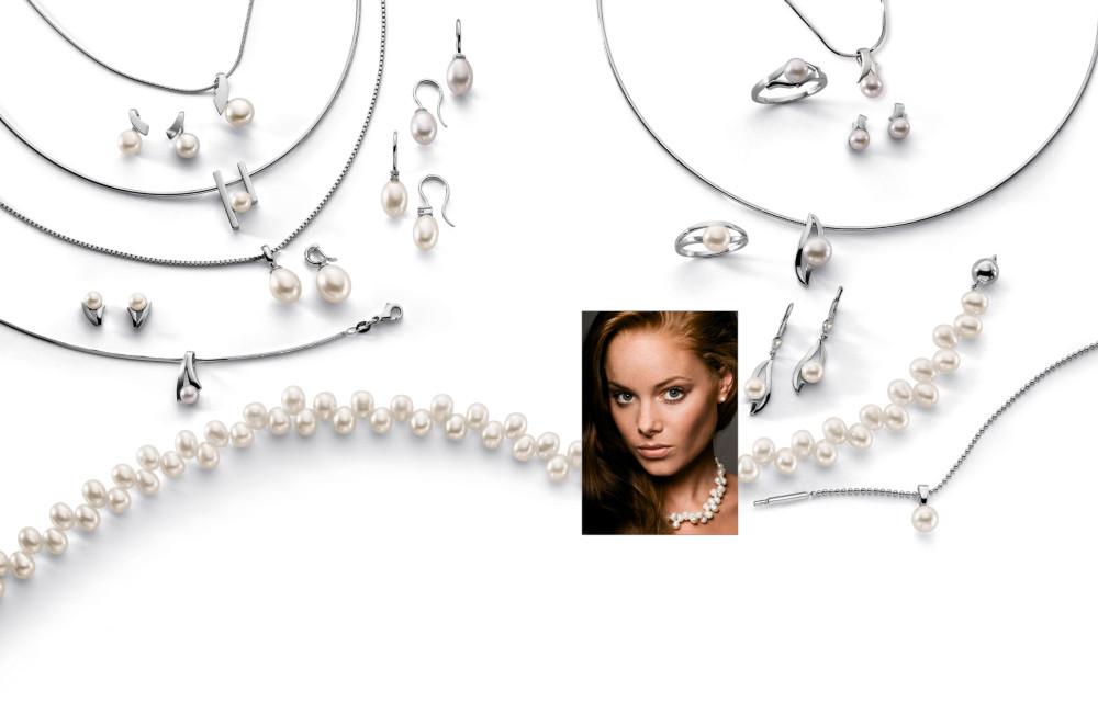 13145 Weissgold - Diverses mit Perlen