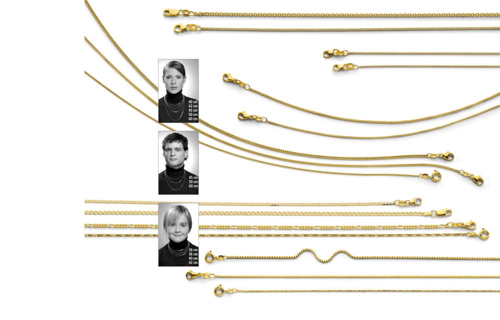 13644 Gelbgold - Standardketten