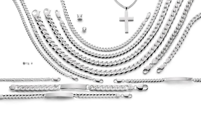 13730 Silber - 99er Div. Ketten/Armbänder poliert