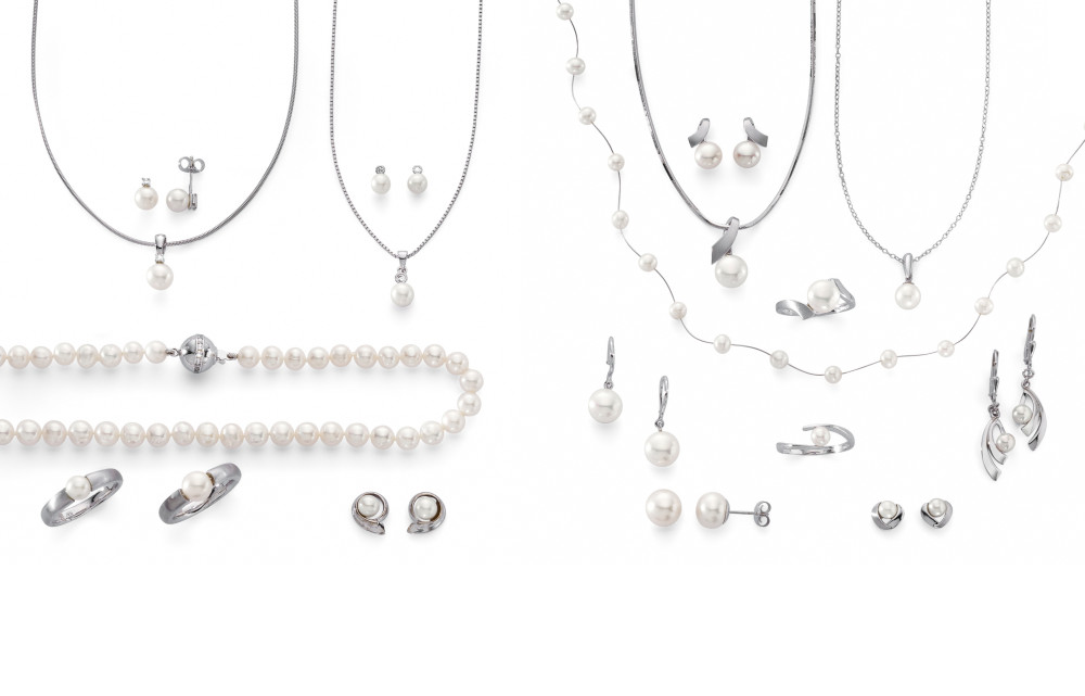 14574 Weissgold - Perlen mit & ohne Zirkonia