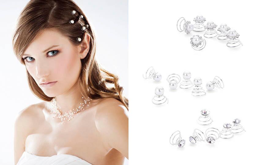17351 Haarschmuck Strass Perlen