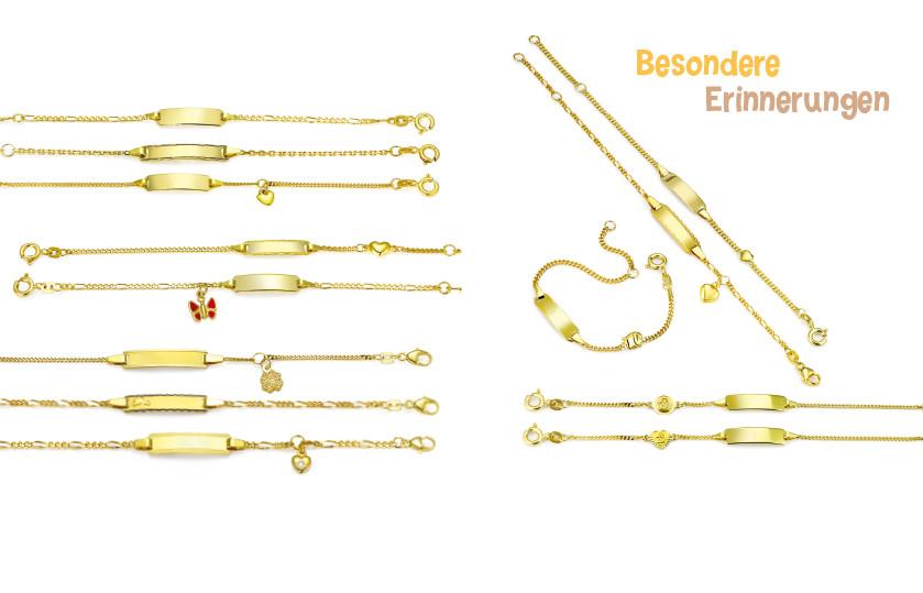 17987 Gold 585/18 K Gravurarmband Taufgeschenk