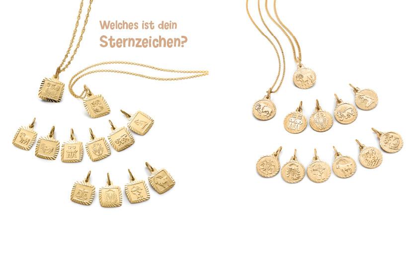 17992 Gelbgold 750/375 K Sternzeichen