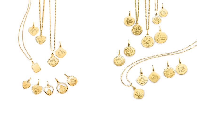 17998 Gold 750/18 K Schutzengel