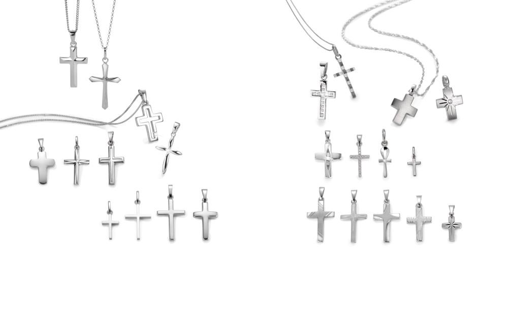 18006 Weissgold 750/375 K Kreuz