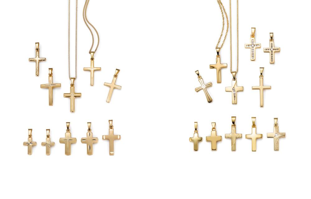18007 Gelbgold 750/18 K Kreuz