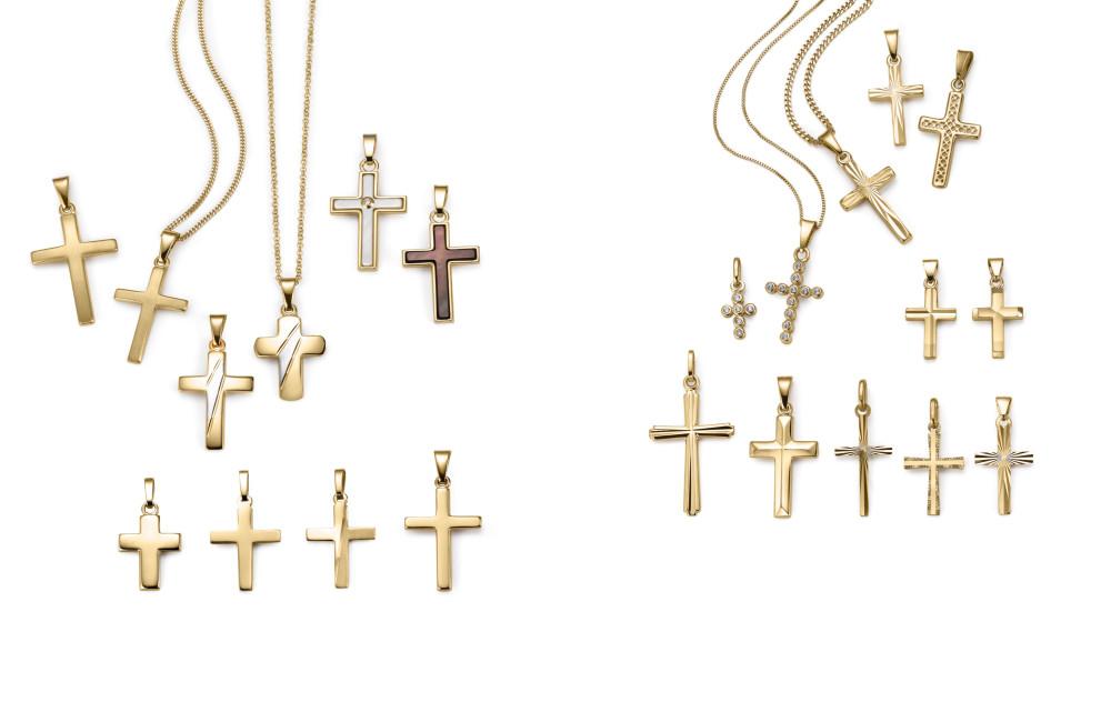 18009 Gelbgold 375/9 K Kreuz