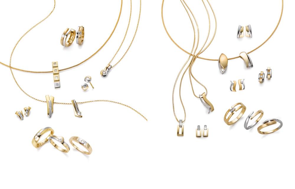 18284 Gelbgold 750/18 K bicolor Diamant
