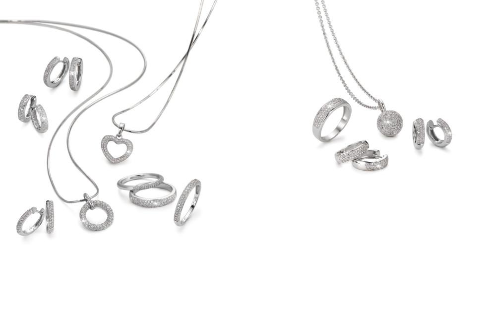 18305 Weissgold 750/18 K Diamant