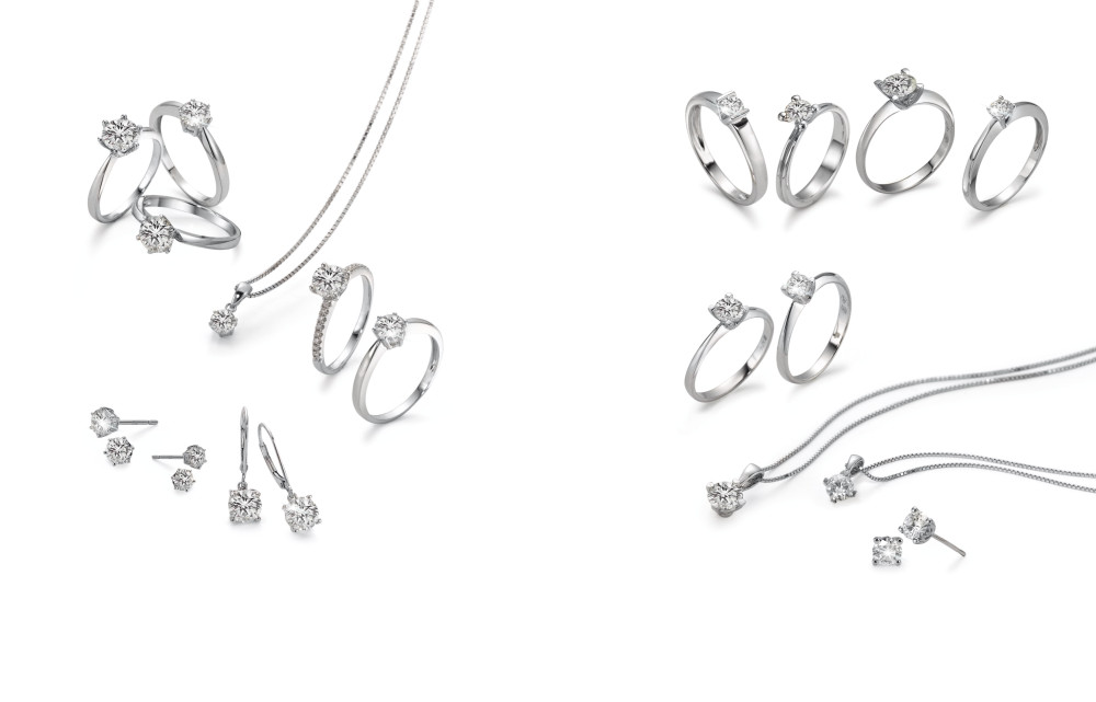 18341 Weissgold 750/18 K Solitär Moissanite Diamant
