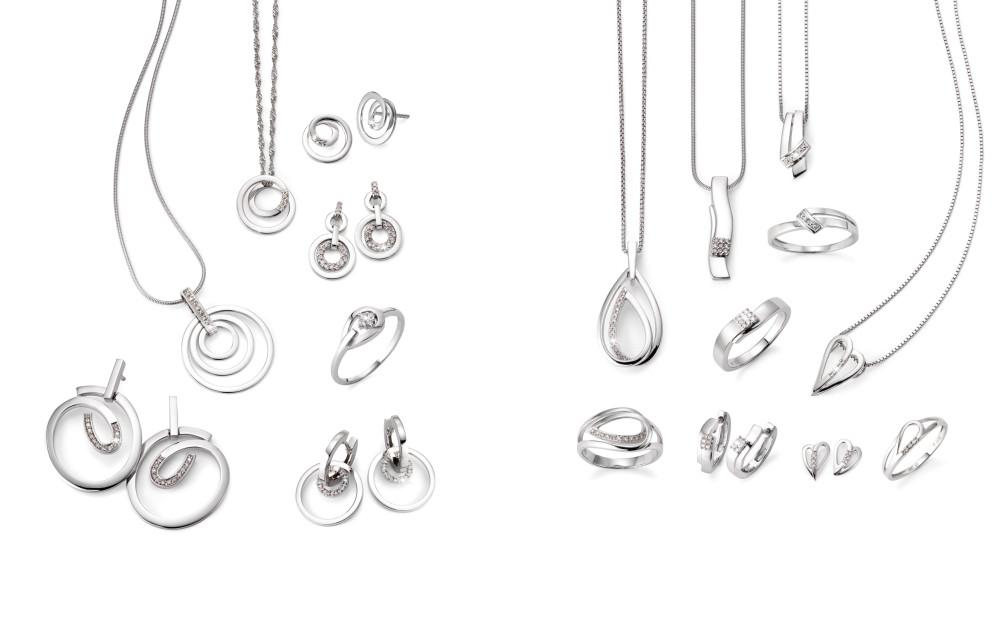 18387 Weissgold 750/18 K Diamant