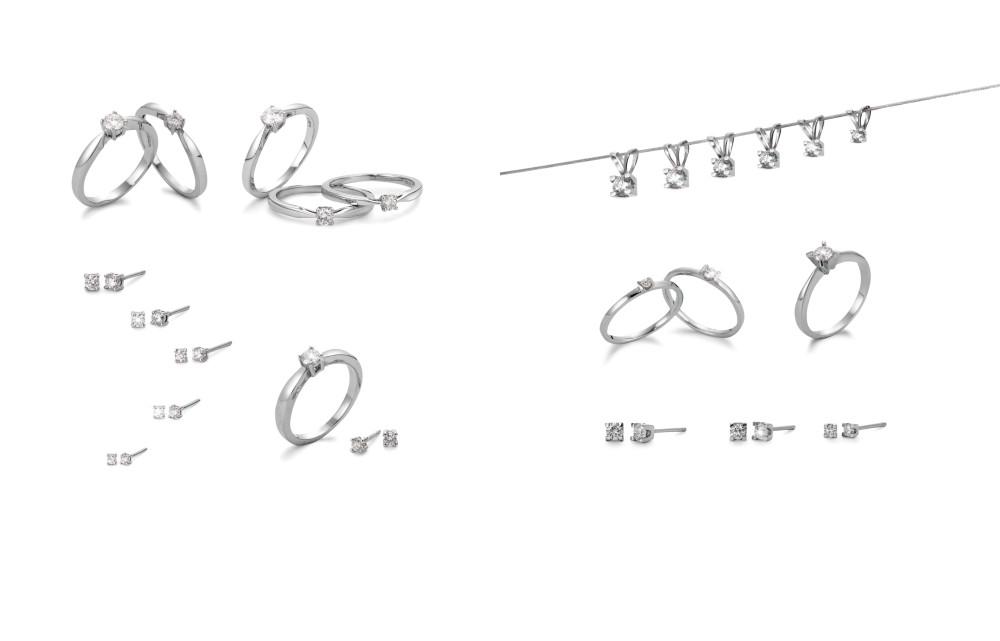 18415 750 Weissgold Diamant Solitär