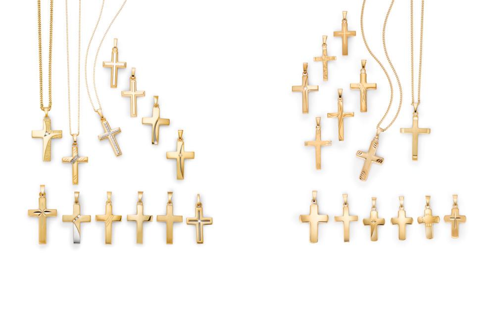 18475 Gelbgold 750/18 K Kreuz