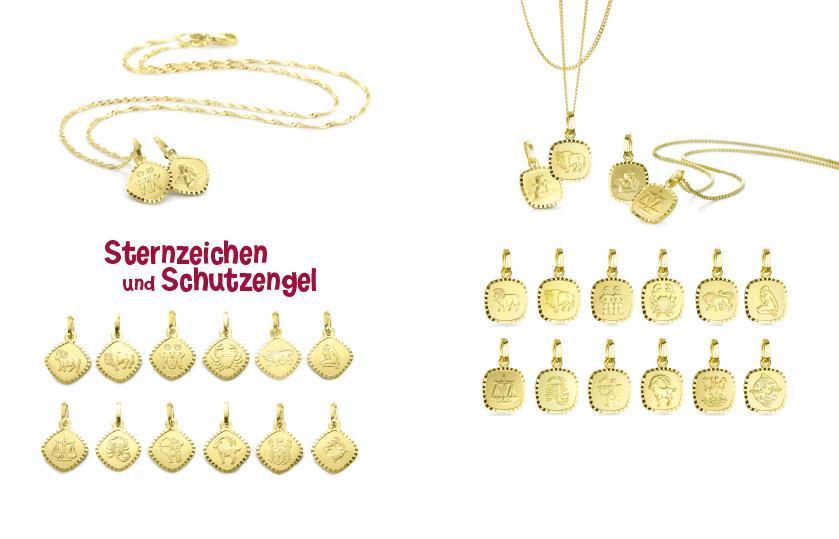 20730 750/18 K Gelbgold Sternzeichen