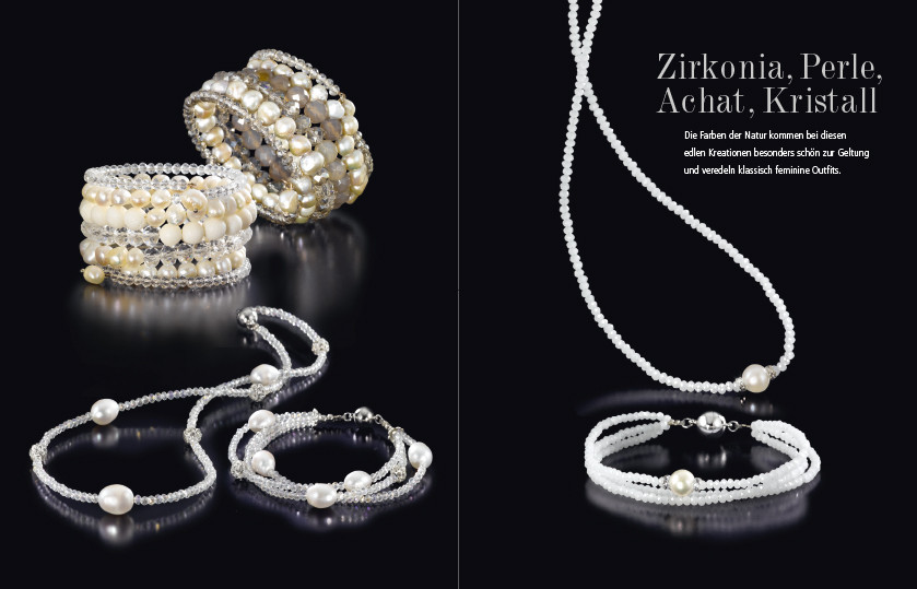 21377 Edelstahl Perlen Kristall