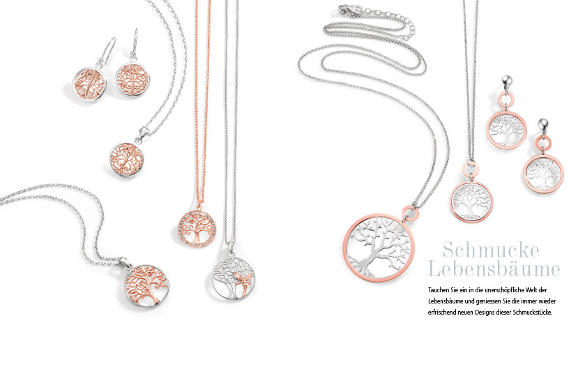 21884 Silber Lebensbaum Symbole