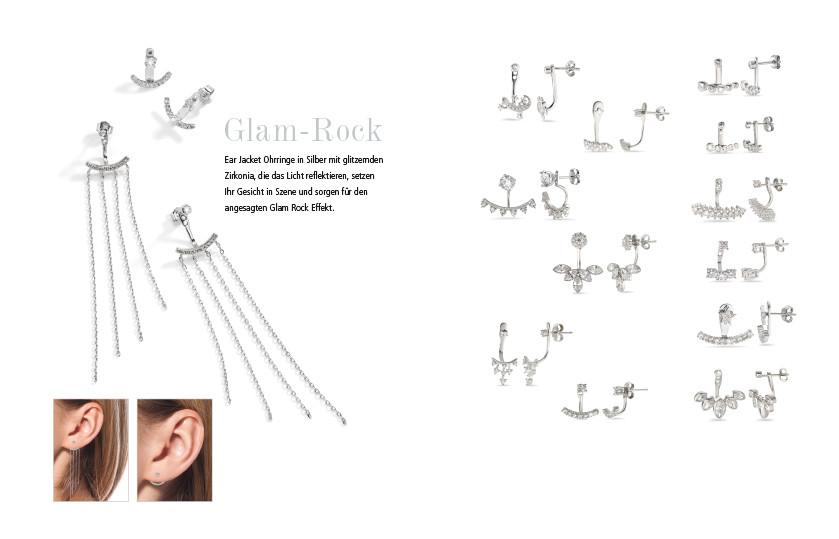 21899 Silber Ear Jackets Ohrschmuck