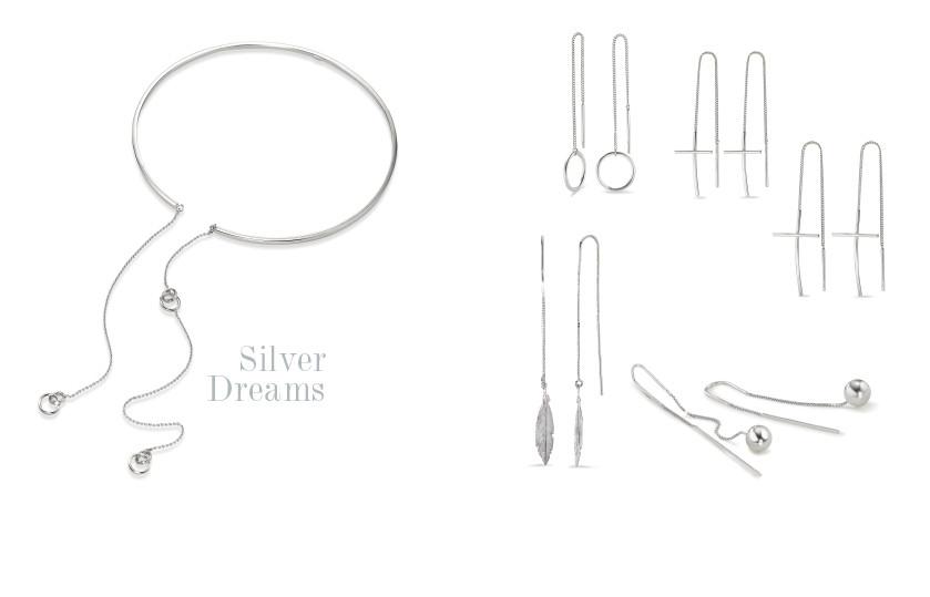 21909 Silber Durchziehohrhänger Ohrschmuck