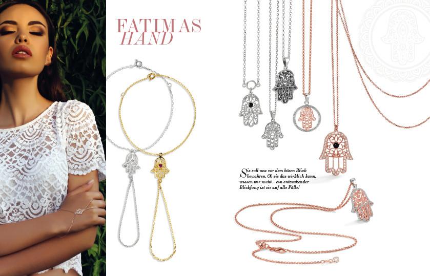 21914 Silber Fatimas Hand Symbole