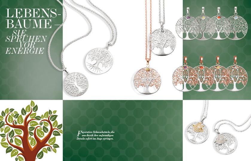 21918 Silber Lebensbaum Symbole