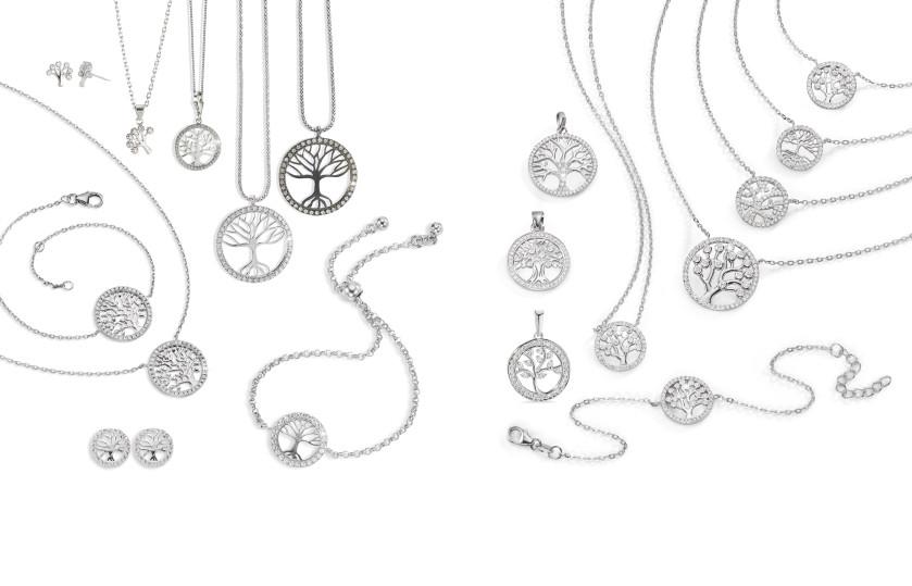 21919 Silber Lebensbaum Symbole