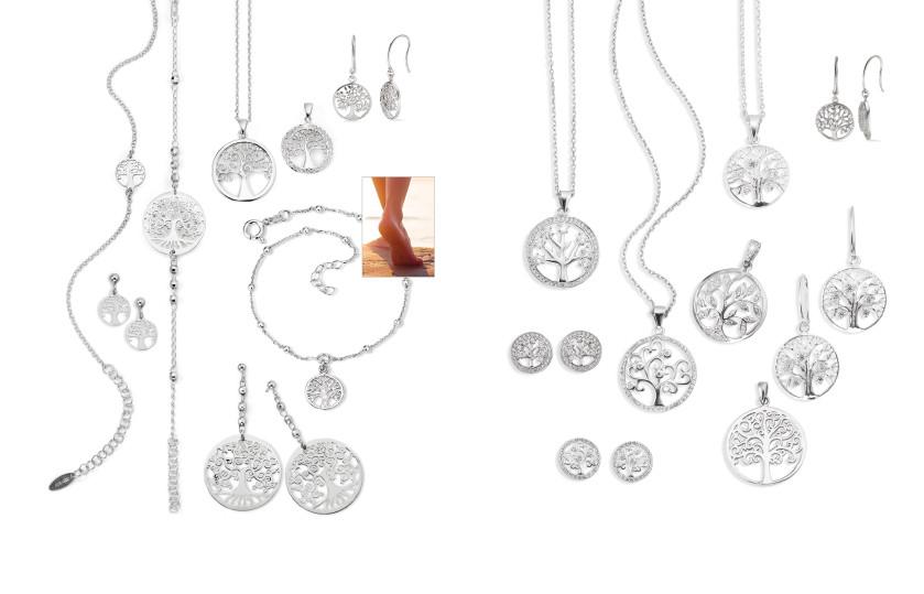 21921 Silber Lebensbaum Symbole