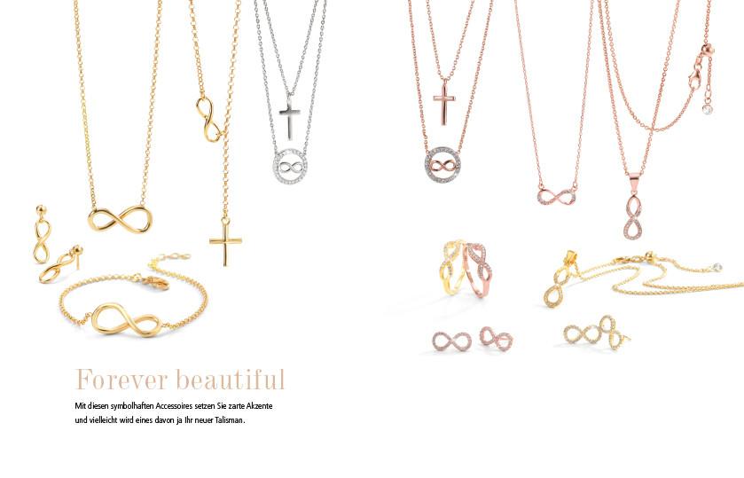 21932 Silber / Bronze Infinity Symbole
