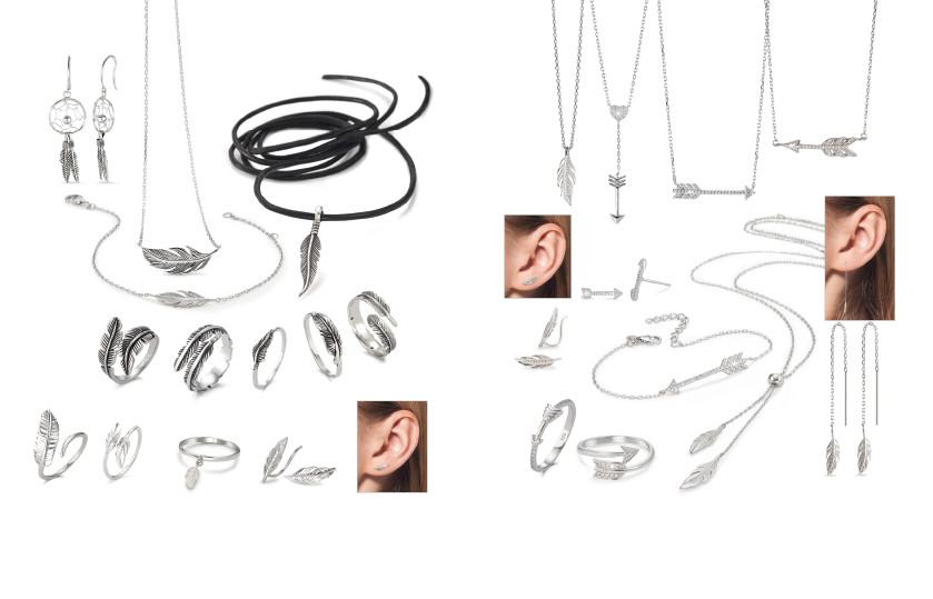 21958 Silber  Federn Indianerschmuck Symbole