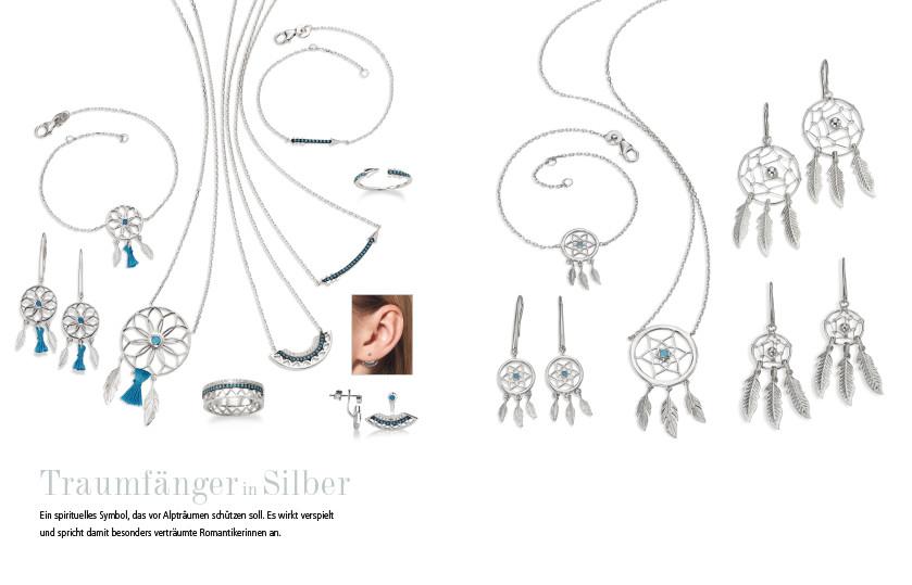 21959 Silber Federn Traumfänger Symbole
