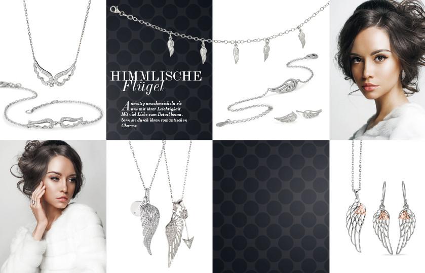 22333 Silber Flügel Symbole