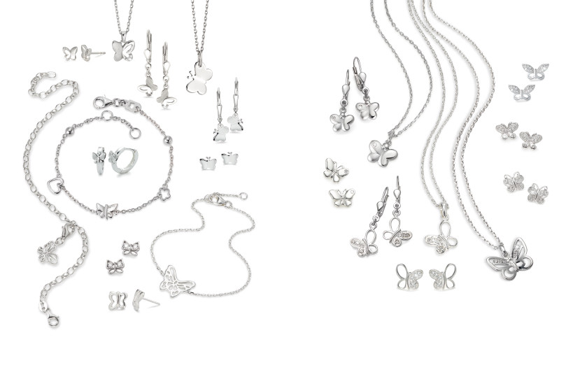 22453 Silber Schmetterling Tiere