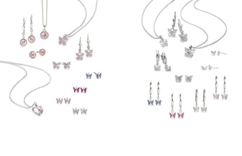 22476 Silber Schmetterling Tiere