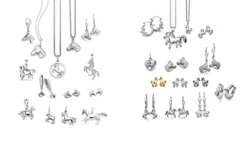 22536 Silber Pferde Tiere