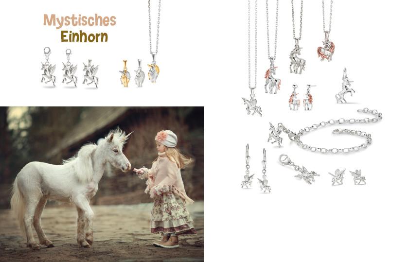 22625 Silber Einhorn Tiere