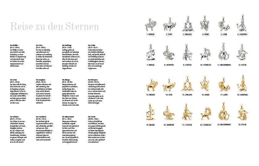 22627 Gold / Silber Sternzeichen