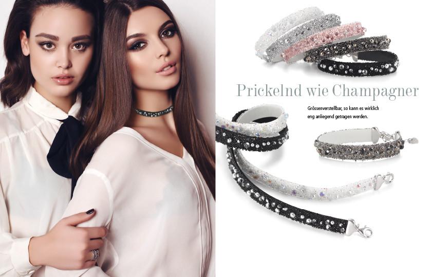 21901 Silber / Leder Kristall Armbänder Perlen