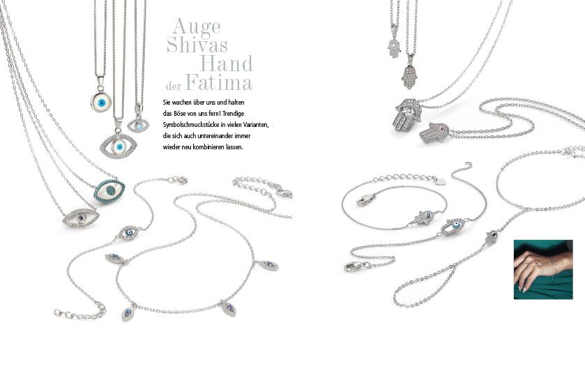 21913 Silber Fatimas Hand Symbole