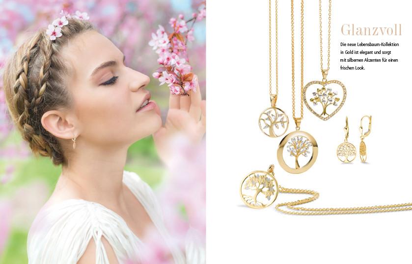 21916 750/ 18 K / 375/9 K Gold Lebensbaum Symbole