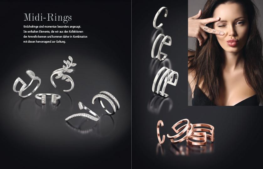 21952 Silber Midi Ringe