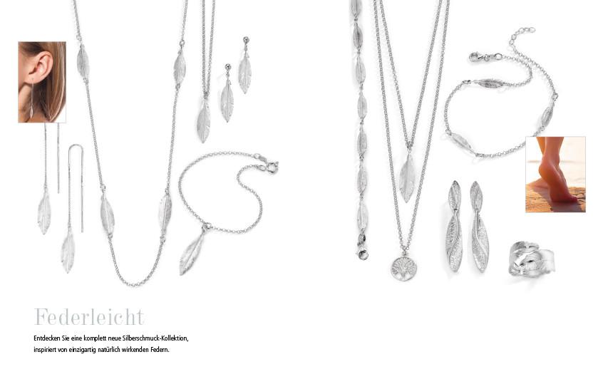 21957 Silber Feder Symbole