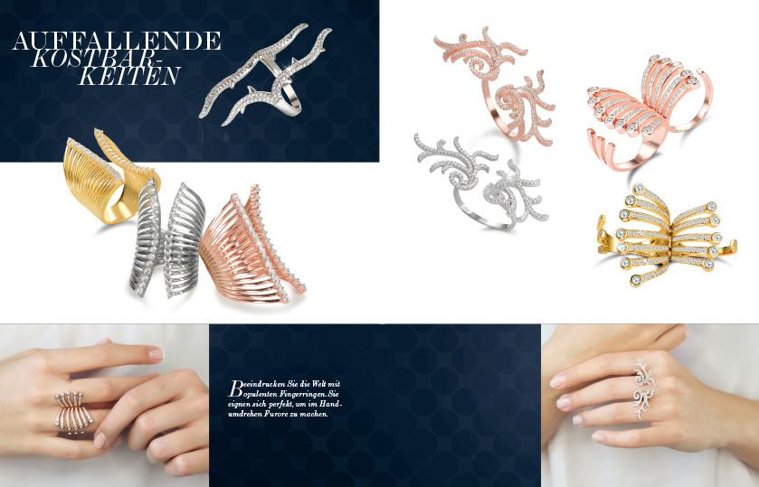 22303 Silber Zirkonia Zwei-Finger Ringe