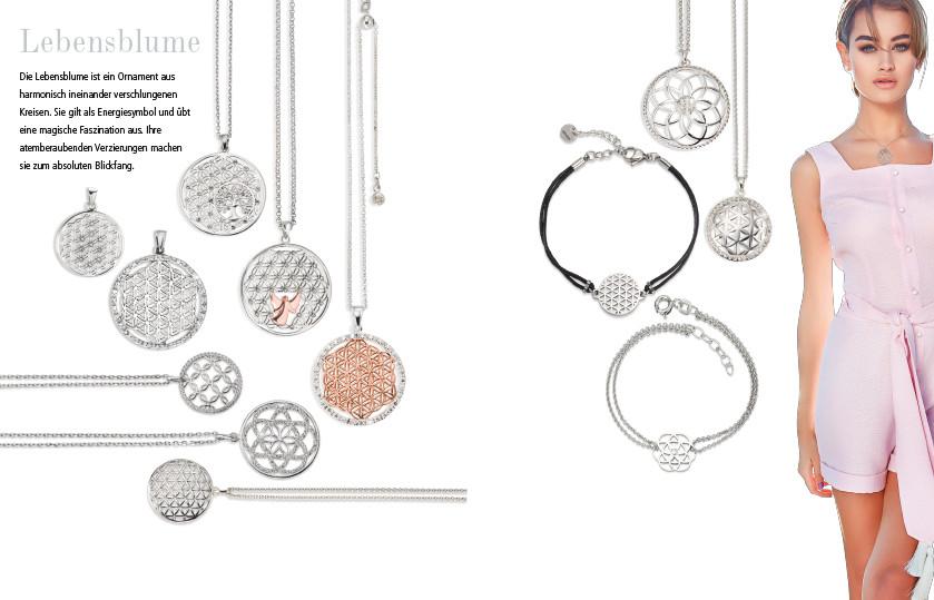 22334 Silber Edelstahl Lebensblume Symbole